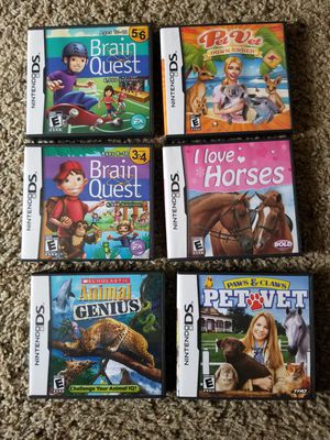 6 Nintendo DS games for Sale in Everett, WA