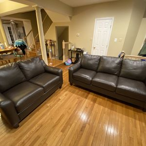 La-Z-Boy Leather Couch Set for Sale in Potomac, MD