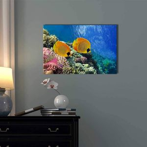 ((FREE SHIPPING)) Coral Reef and Tropical Fish in Sunlight Modern Wall Decor Painting like print for Sale in Atlanta, GA