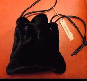 Black Fur Purse Handbag for Sale in Riverside, CA