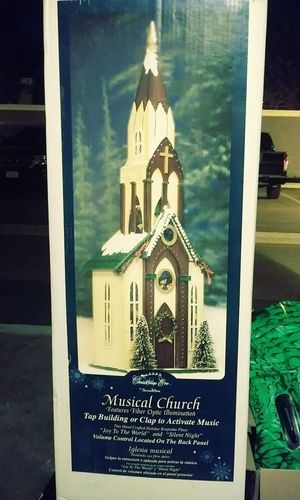 Vintage Christmas Church... Fiber Optic..2ft tall for Sale in Rancho Cucamonga, CA