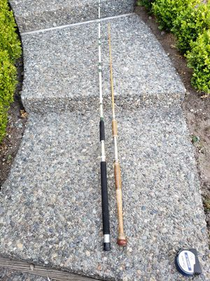 Eagle claw Ocean Eagle heavy trolling rod and other vintage fishing pole for Sale in Federal Way, WA