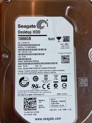 "Seagate 1TB 7200 SATA 3.5"" HDD for Sale in Gaithersburg, MD"