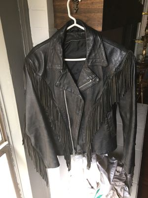 Leather fringe jacket for Sale in Dallas, TX