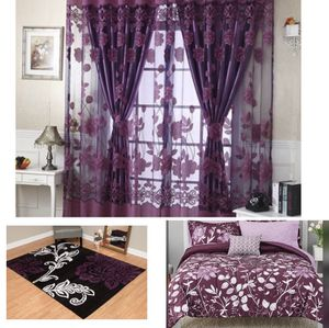 Selling my bedding set 8 pcs, curtains and rug in excellent condition rug is 7'10 X 10'10 for Sale in Austin, TX