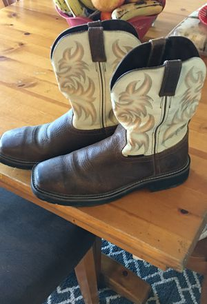Justin steal toe work boots size 10 1/2 for men for Sale in Salt Lake City, UT