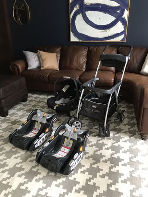 Chico Keyfit Car Seat with Stroller and 2 Bases for Sale in Blue Bell, PA