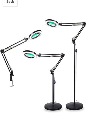Magnifying glass floor lamp with clamp. for Sale in Pico Rivera, CA
