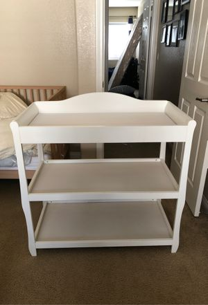 White changing table for Sale in Rancho Cucamonga, CA