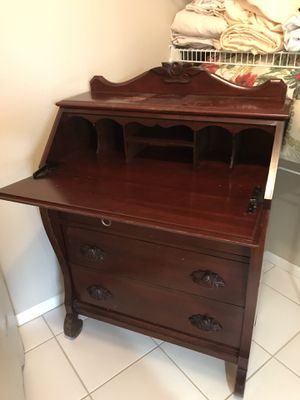 Antique secretary desk - cherry finish for Sale in Painesville, OH