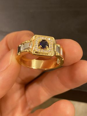Unisex 18K Gold plated Chain Design Ring -Code BLU90 for Sale in Dallas, TX
