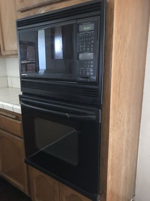 24 inch GE (General Electric) Wall Oven & Microwave Combo (used) works great - pick up in Rancho Cucamonga CA for Sale in Covina, CA