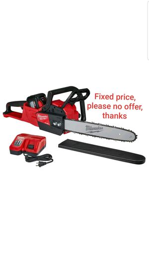 Milwaukee FUEL M18 2727-21HD 18-Volt 16-Inch Brushless Lithium-Ion Chainsaw Kit (12 AH ba) for Sale in Upper Marlboro, MD