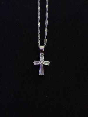 Silver cross necklace for Sale in Phoenix, AZ