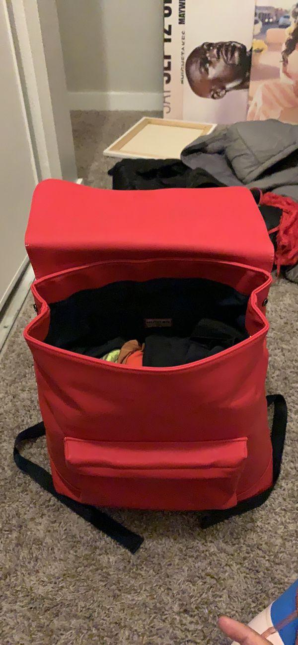 Hunter red backpack