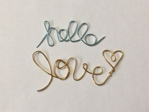 """Blue and Gold Wire """"Hello Love"""" with Bonus """"&"""" for Sale in Canton, OH"""
