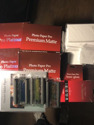 Cannon Photo Paper Bundles and postcard Ink for Sale in Hoboken, NJ