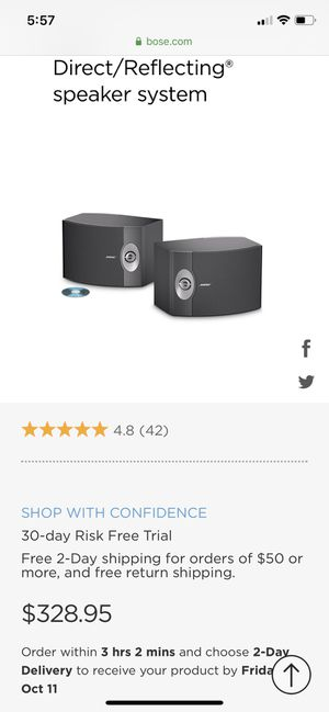 Bose surround sound speakers for Sale in San Jose, CA