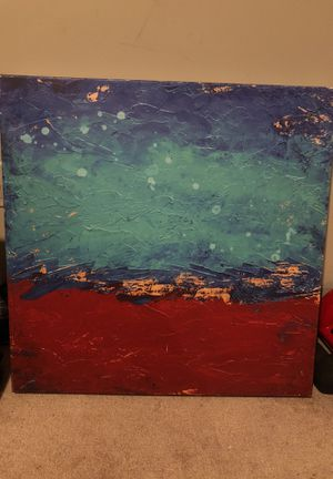 Canvas original oil painting blue waves for Sale in Ashburn, VA