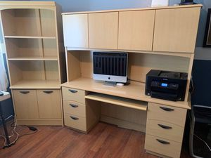 Office desk/shelving unit for Sale in Bakersfield, CA