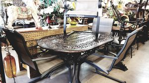 Patio table with 4 chairs 🦃We are located at 2811 E. Bell Rd.  We are Another Time Around Furniture for Sale in Phoenix, AZ