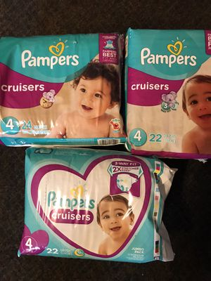 Pampers cruisers diapers for Sale in Fontana, CA