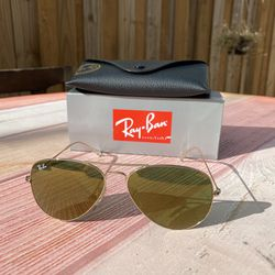 RAY BAN Sunglasses 3025 W3276 58MM GOLD CRYSTAL GOLD MIRROR AUTHENTIC/100% UV Protection NEW Large for Sale in Orlando,  FL