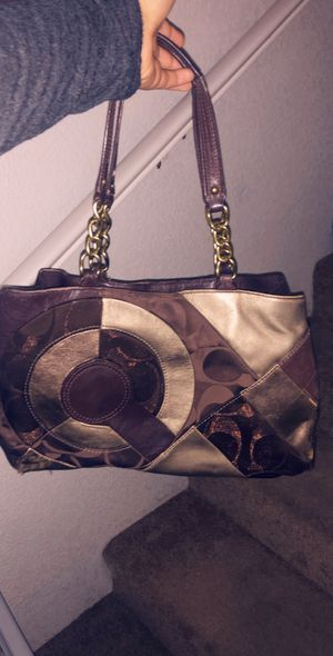 Brown coach purse for Sale in Tracy, CA