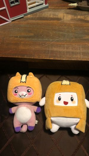 Boxy and Foxy from Lanky Box plushies for Sale in Colton, CA