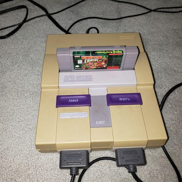 Super Nintendo console & games