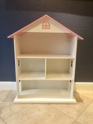 Dollhouse bookcase - pink and white for Sale in Escondido, CA