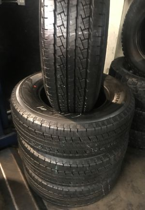 SET LT 265/70/17 PIRELLI SEMI NEW 95% TREAD LIFE $400 INCLUDING PROFESSIONAL INSTALLATION AND TAX for Sale in Whittier, CA