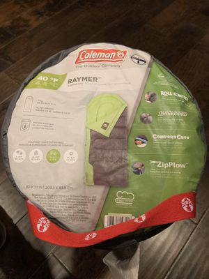 Coleman Raymer 40F Tall Sleeping Bag (Used) for Sale in Burlingame, CA