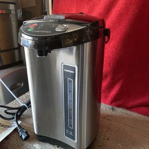 Chefman 5.3 Liter Instant electric Auto Dispense Hot Water And Coffee Pot Stainless Steel In Excellent Condition Open Box for Sale in Las Vegas, NV