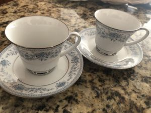 2 sets Noritake Blue Hill cup and saucer for Sale in Silver Spring, MD