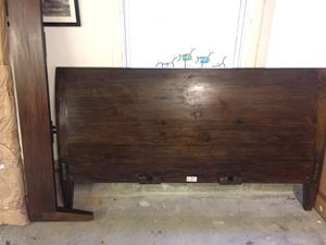 Hardwood sleigh bed style for Sale in Lisbon, ME