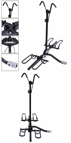"""Brand new in box 2 Bike Bicycle Carrier Foldable Adjustable Platform Car SUV Truck Van 2"""" Hitch Rack Fits 20 to 26 inch Tires for Sale in Whittier, CA"""
