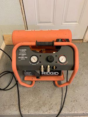 Ridged Compressor 1.8HP 4.9CFM for Sale in Rancho Cucamonga, CA