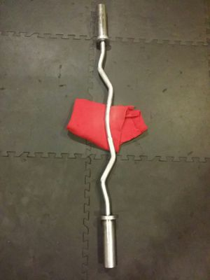 Olympic curl bar for Sale in Chicago, IL