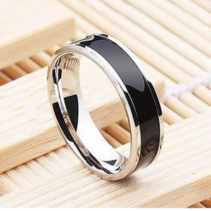 Stainless steel titanium plated black wedding ring size 9 and 10 available for Sale in Silver Spring, MD