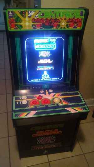used mini arcade game cones with 4 games programed into it for Sale in Fontana, CA
