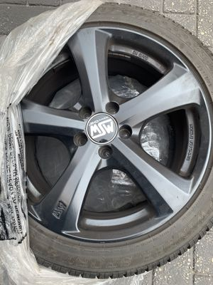 MSW 18x8 black rims - 4 with tires for Sale in Chicago, IL