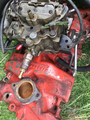 SBC intake manifold and Rochester Carburetor for Sale in Los Angeles, CA