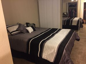 Storage locker in Phoenix only used 2months 300.00 for everything small sofa tables pub table with 2 chairs entertainment and tv queen size bed frame for Sale in Phoenix, AZ