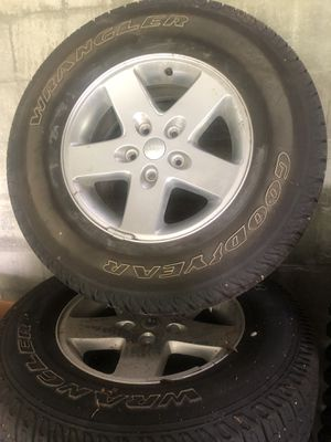 Brand Nee Jeep Wrangler stock tires and rims for Sale in Cranberry Township, PA