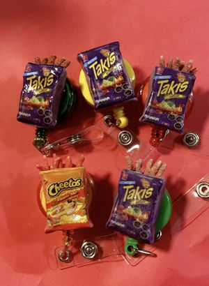 Takis and hot Cheetos badge for Sale in Pomona, CA