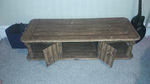 Solid oak long coffee table for Sale in Butte, MT