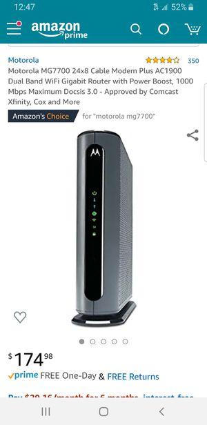 Motorola Modem/ Router for Sale in Litchfield Park, AZ