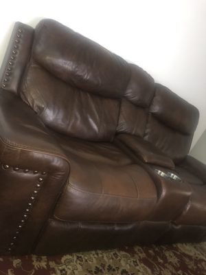 Ashley Recline Leather sofa for Sale in Silver Spring, MD