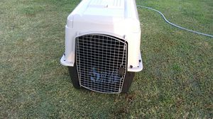 Plastic dog kennel holds up to 80lb dog for Sale in Fresno, CA
